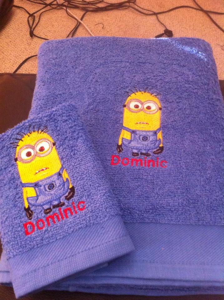 Minion design on towel4