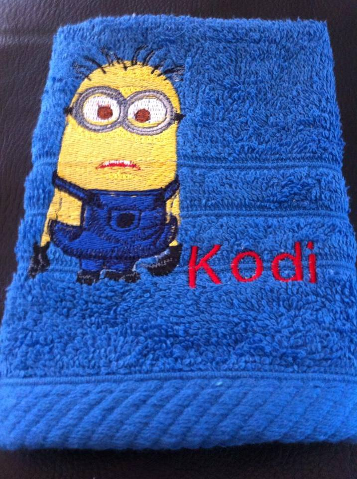 Minion design on towel9