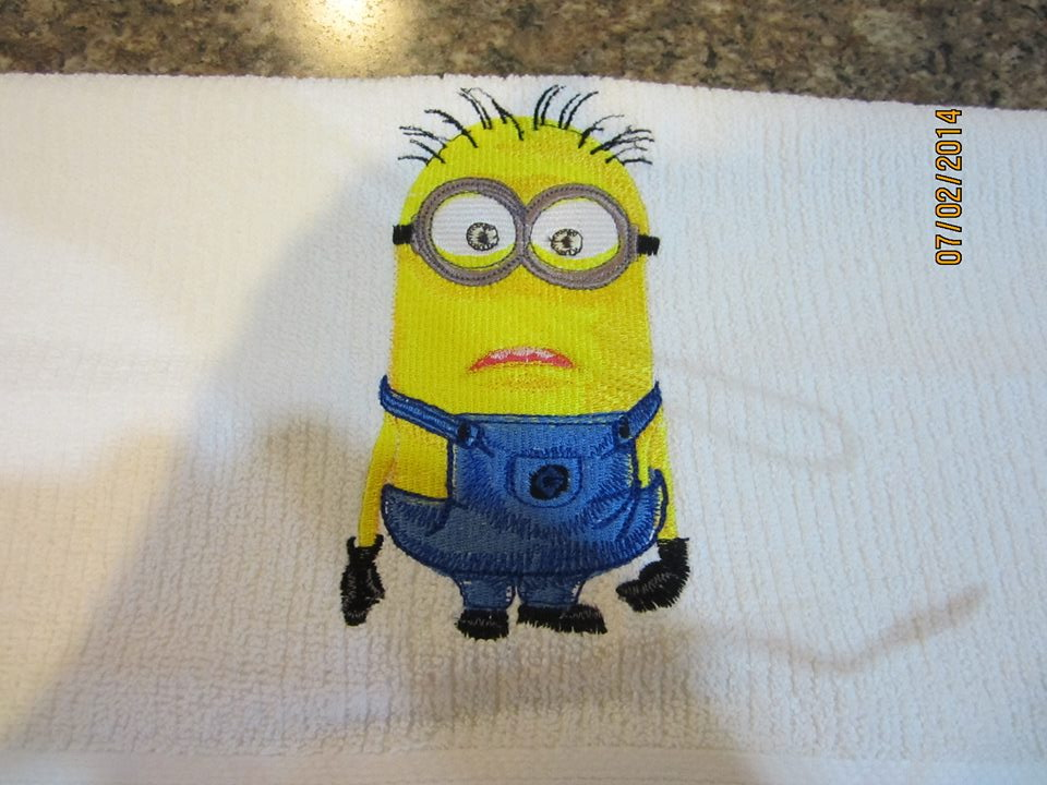 Minion design on towel12