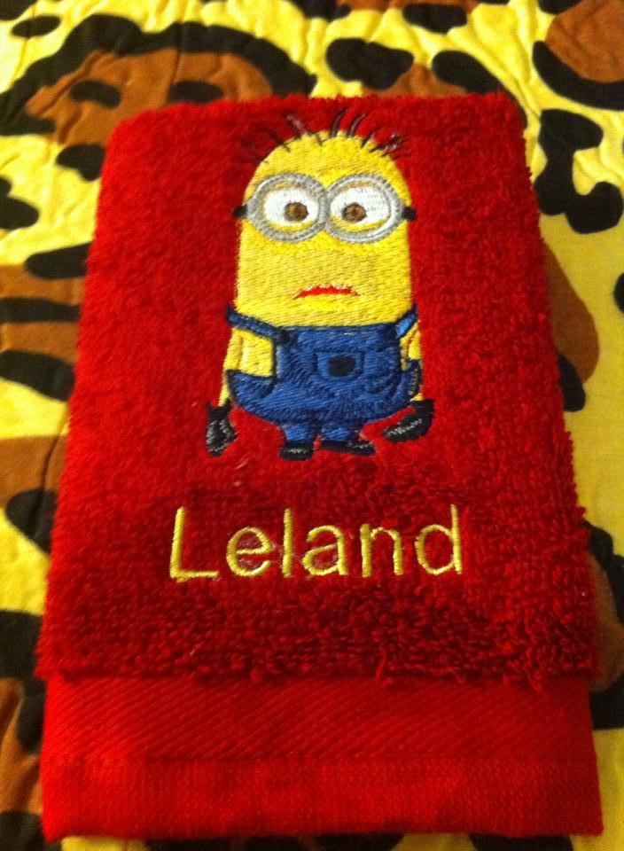 Minion design on towel14