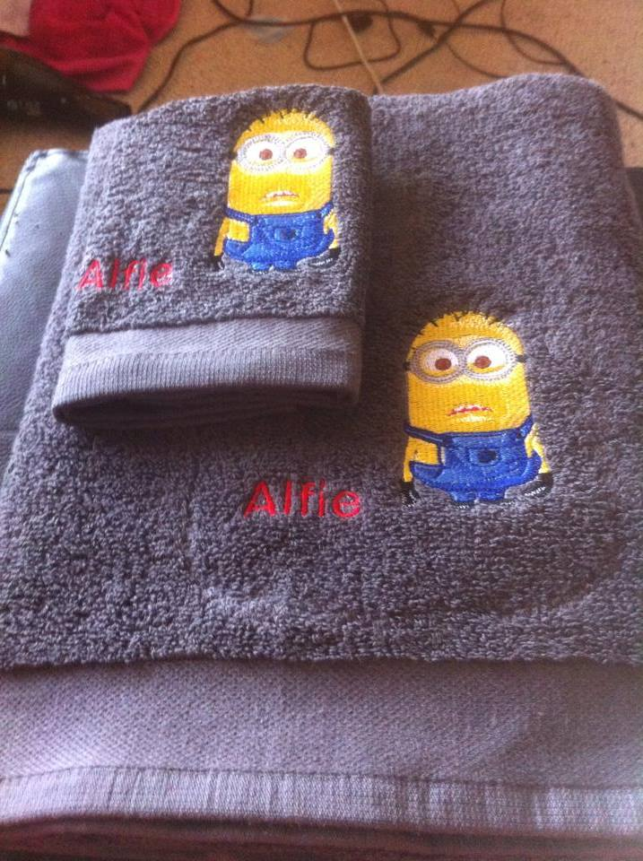 Minion design on towel6