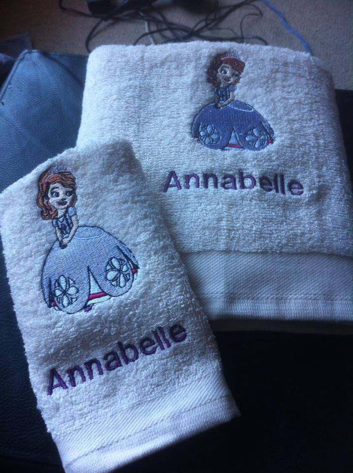 Sofia The First design on towel4