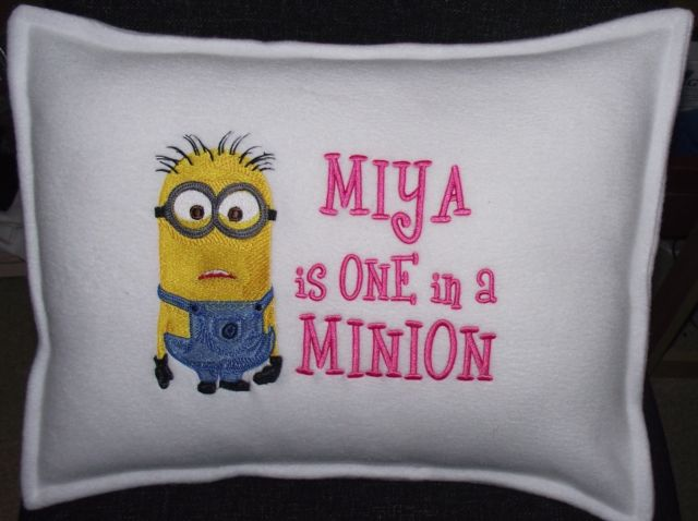 Minion design on pillowcase2