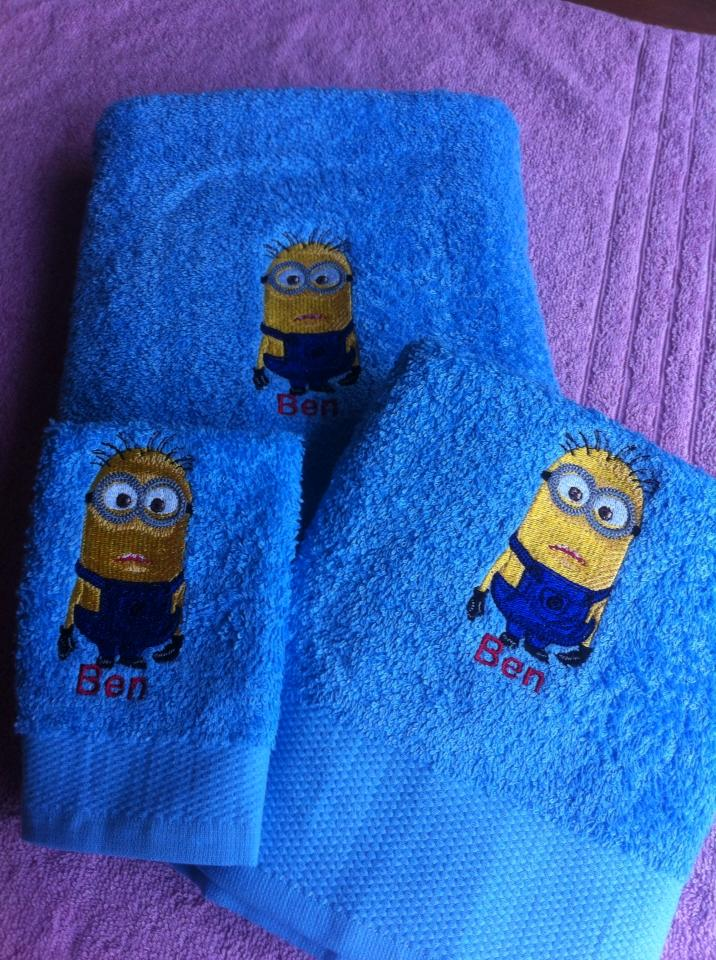 Minion design on towel