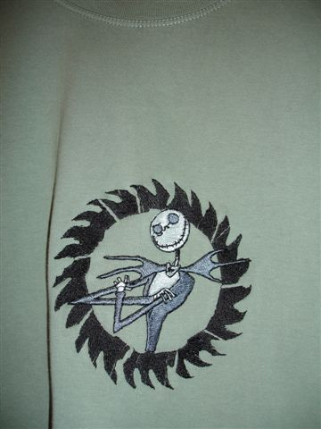 Jack Skellington design on t-shirt