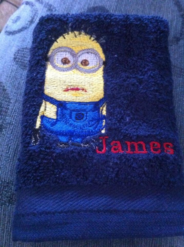 Minion design on towel11