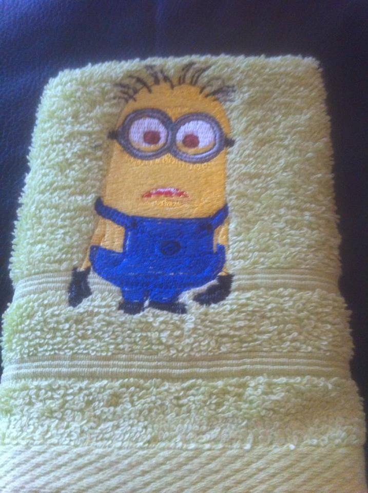 Minion design on towel10