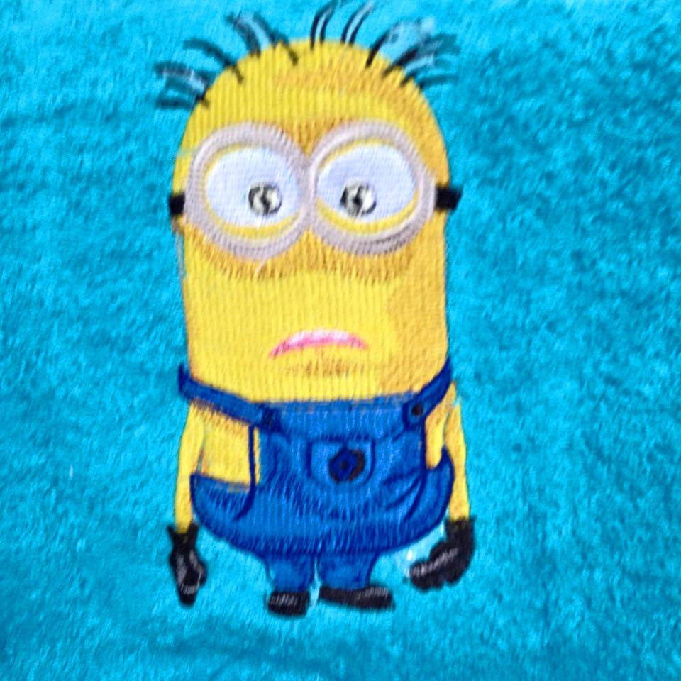 Minion design on towel15