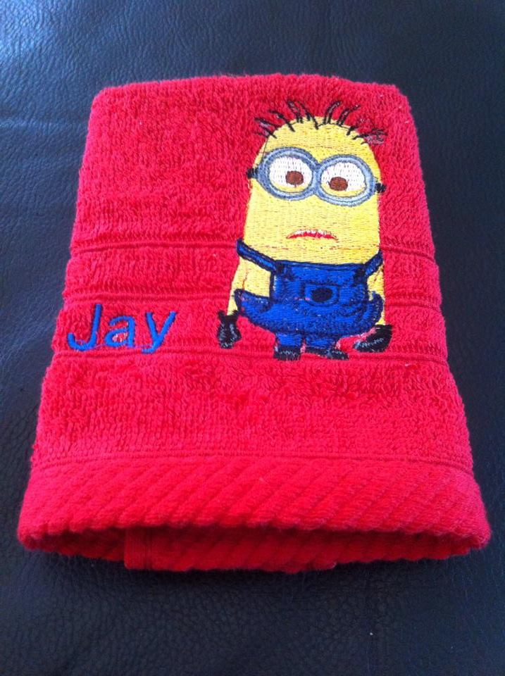 Minion design on towel8