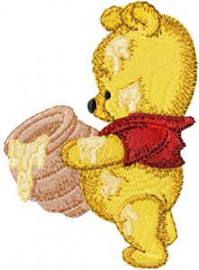 Baby Pooh with honey pot