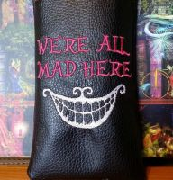 We're all mad here design on bag1