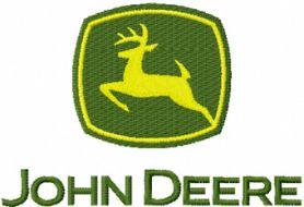 John Deere logo machine embroidery design