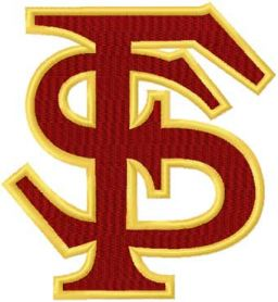 Florida State logo machine embroidery design