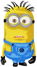 Minion machine embroidery design