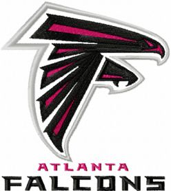 Atlanta Falcons machine embroidery design