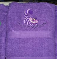 Alice in wonderland designs on towels3