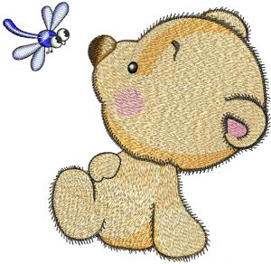 Teddy Bear and dragonfly