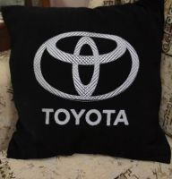 Toyota Logo design on pillowcase2