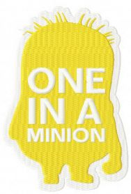 Silhouette of Minion machine embroidery design