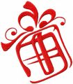 Xmas gift box free machine embroidery design