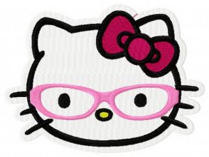 Hello Kitty world through glasses