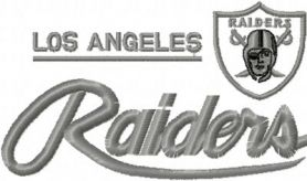 Los Angeles Raiders Logo machine embroidery design
