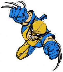 Wolverine 2 machine embroidery design