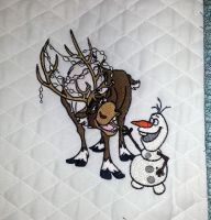 Sven and Olaf design on quilt1