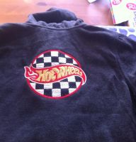 Jacket with Hot Wheels logo embroidery design