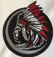 Indian mascot embroidery design