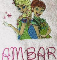 Sping in Arendelle design on towel2