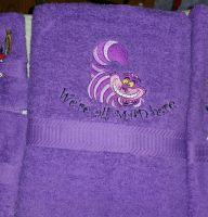 Alice in wonderland designs on towels4