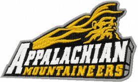 Appalachian state mountaineers logo machine embroidery design