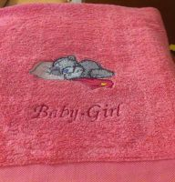 Teddy bear sleeping design on towel7