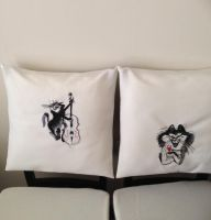 Chair cover back with cat free embroidery design
