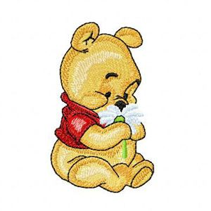 Baby Pooh with Flower