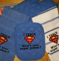 Superman Logo design embroidered1