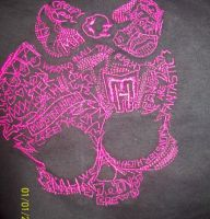 Monster High sketch logo design on coat2