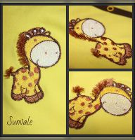 Giraffe free embroidery design
