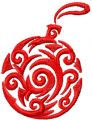 Christmas ball 4 free embroidery design