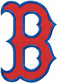 Boston Red Sox logo machine embroidery design for sport uniform
