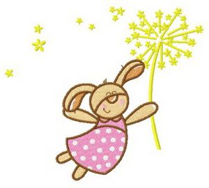 Bunny with fireworks