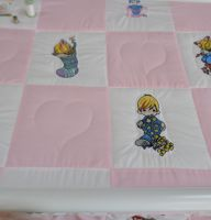 Precious Moments designs on quilt3