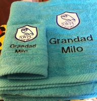 Sheffield Wednesday F.C. logo design on towel1