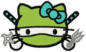Hello Kitty ninja turtle