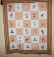 Precious Moments designs on quilt1