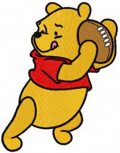 Pooh plays rugby