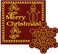 Christmas patch free machine embroidery design