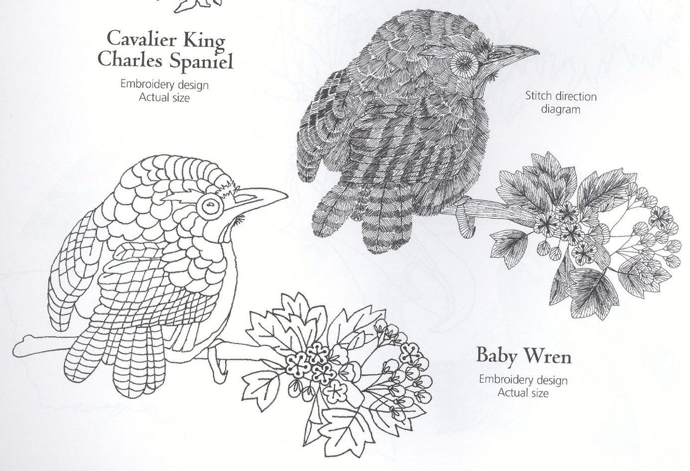 Schema for Bird embroidery design