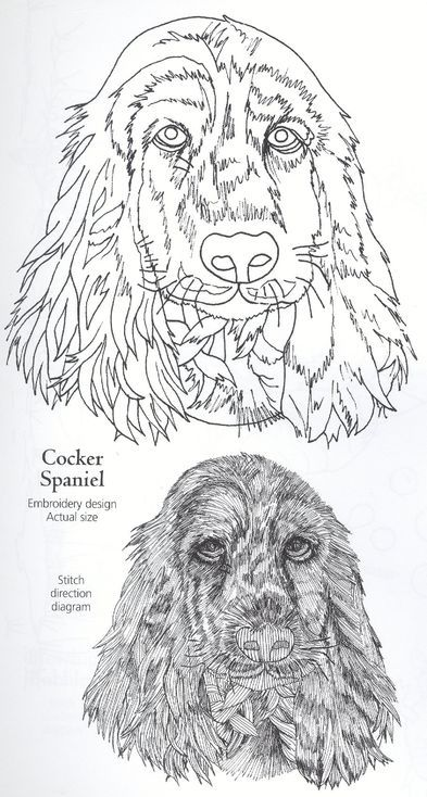 Embroidery schema digitizing for dog design